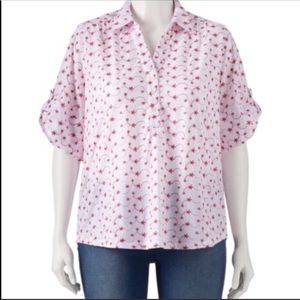 ⚡️⚡️Cathy Daniels Button Up Collar Short Sleeve